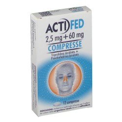 ACTIFED*12 cpr 2,5 mg + 60 mg